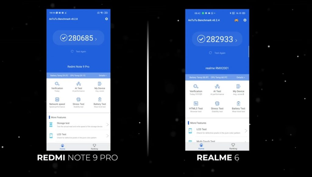 Redmi Note 9 Pro против Realme 6