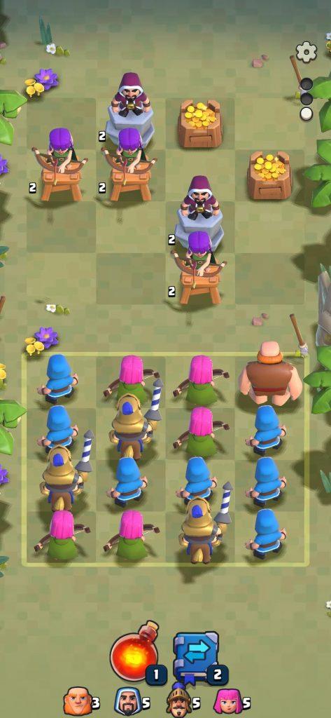 Игровое поле в Clash Quest